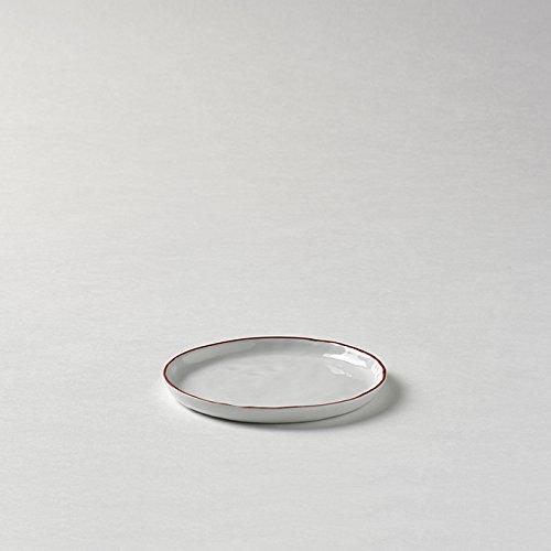 Lambert Piana Teller Weiß Rand Rot D 13,5 Cm