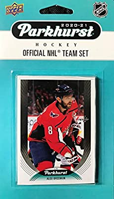 Washington Capitals 2020 2021 Upper Deck Factory Sealed 10 Card Team Set including Alexander Ovechkin and Nicklas Backstrom Plus