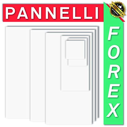FOREX PANNELLO LASTRA PVC BIANCO - DIVERSI SPESSORI E DIMENSIONI -ALTA QUALITA' - IDEALE PER STAMPA O...