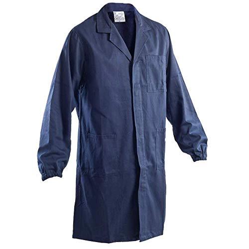 P&P Camice Blu con Elastico ai Polsi 100% Cotone Massaua, Ideale per Il Lavoro, Elettricista/Meccanico/Scuole Professionali (M)