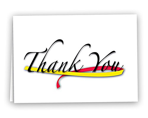Fundraising for a Cause | Red & Yellow Awareness Ribbon Note Cards - Thank You Cards for Coronavirus (COVID-19) and Hepatitis C Awareness (12 Cards)