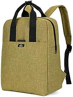 Sturdy Fashion Business Tidal Range of Leisure Travel Backpack Shoulder Handbag Large Capacity (Color : Khaki)