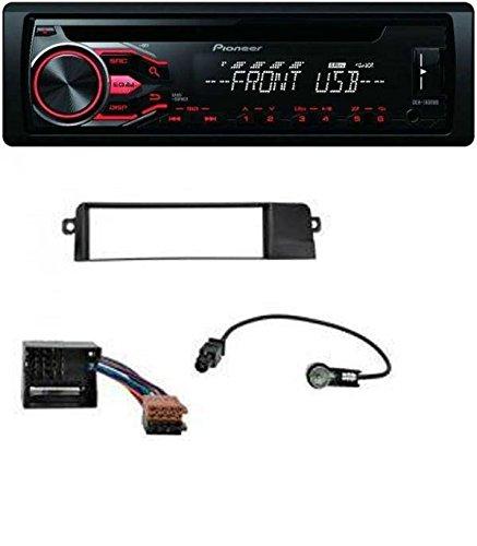 Pioneer CD MP3 USB AUX de Coche para BMW 3 Series E46 (versión profesional, Quad Lock)