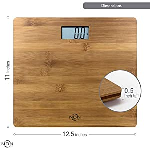 NDN LINE Bamboo Digital Body Weight Bathroom Scale   Feel the Natural Wood Difference