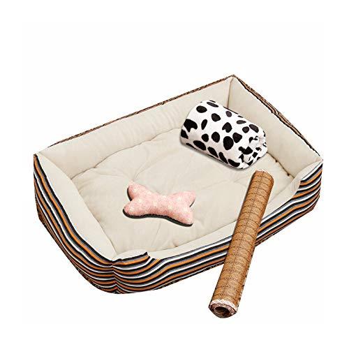 ZKBD-XTQ Bequemes und langlebiges HundebettKennel herausnehmbar und waschbar Winter warm Teddy Haustier Katzenstreu Golden Retriever Hund Matratze Hundebedarf @ T_s