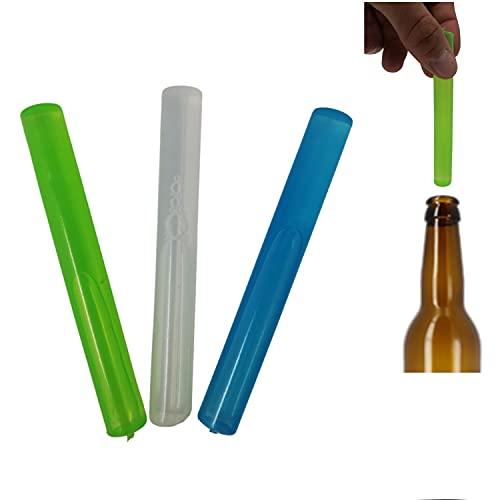 parpyon® Ghiaccio Riutilizzabile 3 Stick di Ghiaccio Colorati a congelamento rapido per Cocktail Bevande ghiacciate Borsa Termica Mare refrigerante (3pz-S)
