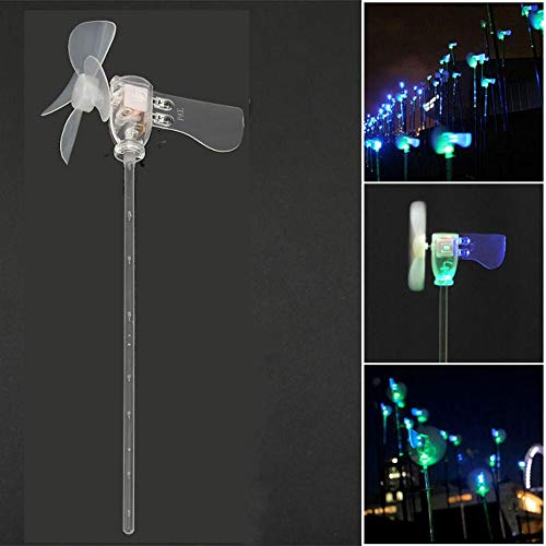 DIY Wood Crafts Science Experiments DC Motor Wind Blades Wind Generator Vertical DIY Project Turbines LED Windmill Small DIY Kits for Adults Science Kits