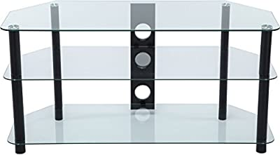 """Stealth Mounts 1000mm Glass TV Stand For TVs Up To 50"""""""