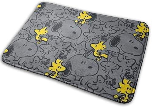GOU39-WCT Willkommen Fußmatten Snoopy und Woodstock Indoor Outdoor Matten Eingang Teppiche Gummi rutschfeste Fußmatten 15,8