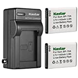 Kastar 2-Pack BP-70A Battery and AC Wall Charger Replacement for Samsung ST66, ST67, ST68, ST70, ST700, ST71, ST72, ST73, ST75, ST76, ST77, ST78, ST79, ST80, ST88, ST89, ST90, ST91, ST93, ST94 Camera