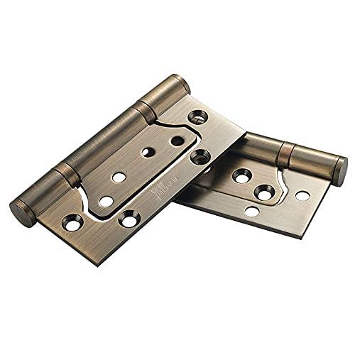 Controles de Puerta con bisagra de 4 Pulgadas.Bisagra de Acero Inoxidable 304 para cojinetes Lisos con Tornillos de Acero Inoxidable Bronce Verde, 2 Piezas