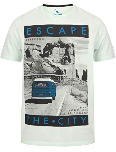 T-shirt Homme SOUTH SHORE à Manches Courtes Imprimé T-shirt coton Tee Mountain Drive