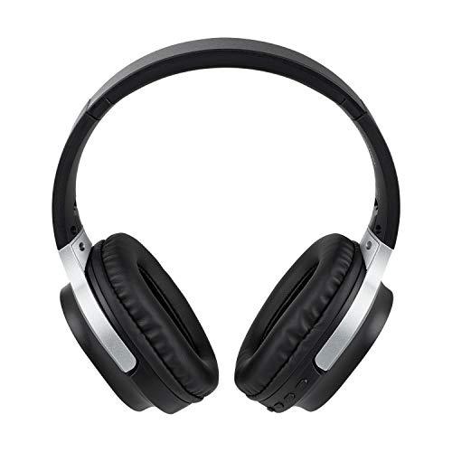 MEDION E62180 Kopfhörer (Overear, Bluetooth 5.0, kabellos, Freisprechfunktion, integrierter Akku, Mikrofon, USB, bis zu 10 Stunden, Klinkenstecker)