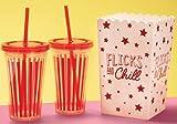 Be-Creative Flicks & Chill Flix Popcorn Secchio e tazza di...