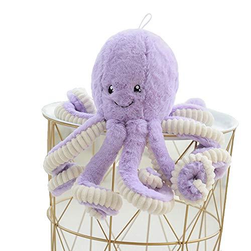 Asdomo - Pulpo de peluche, bonito animal marino de peluche, juguete marino de peluche de 40 cm, Algodón PP., Morado, Purple 40cm/15.75inch(height)
