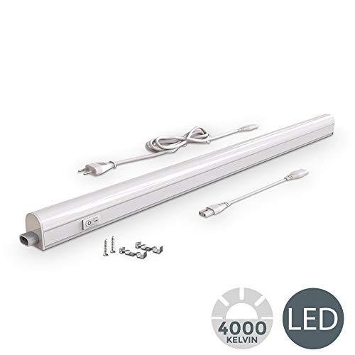 B.K.Licht LED Unterbauleuchte I Lichtleiste I 87.3cm I 15W I 1200lm I 4.000K neutralweiß I erweiterbar durch Stecksystem.