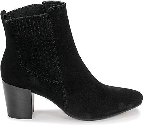 BULLBOXER Damen Stiefeletten, Frauen Chelsea Boots, halbstiefel Schlupfstiefel hoch Damen Frauen weibliche Lady Ladies feminin,Schwarz,38 EU / 5 UK