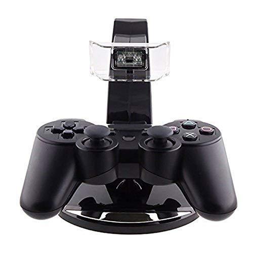 Doble Cargador Dock LED Carga Soporte PS3 Controlador