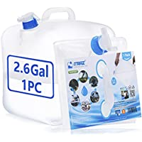 ITRAZ Collapsible BPA-Free Water Storage Carrier Jug Container with Spigot (2.6 Gallon)