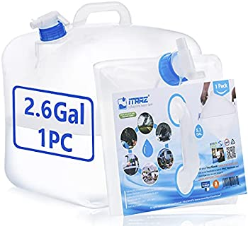 Collapsible BPA-Free Water Storage Carrier Jug with Spigot (2.6 Gallon)
