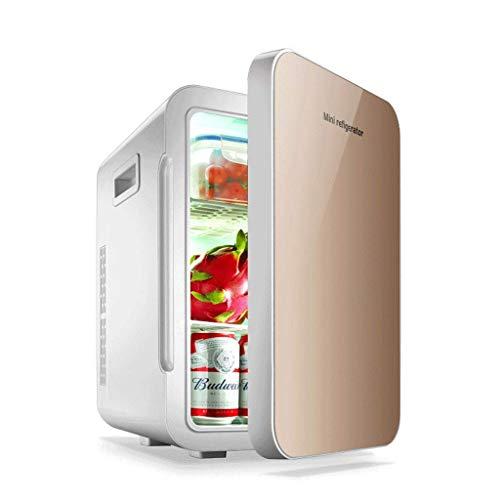 OutingStarcase 22L coche de refrigerador de doble núcleo Mini refrigerador pequeño Inicio Frigorífico de doble puerta (color: A)