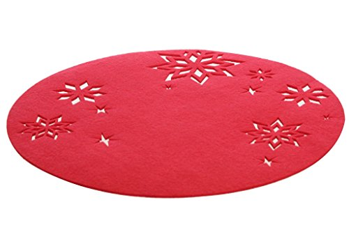 Geschenkestadl 4 er Set Platzdecke Weihnachten Platzsets ausgestanzte Sterne Weihnachtsstern Filz Dekoration
