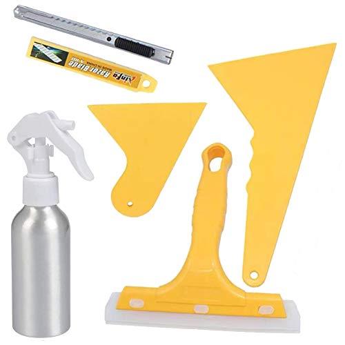 JPYH 6 PCS Kit De Aplicación De Película De Ventana, Vehículo Cristal Protector Ventana Coche de la película del Vinilo del Tinte de Envolver Instalación de la Herramienta