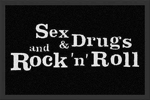 Fussmatte Sex & Drugs & Rock n Roll Fußabtreter Türmatte Fußmatte Schmutzmatte