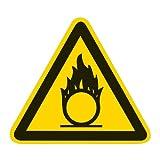 Warnung vor brandfördernden Stoffen Folie selbstklebend 200 mm