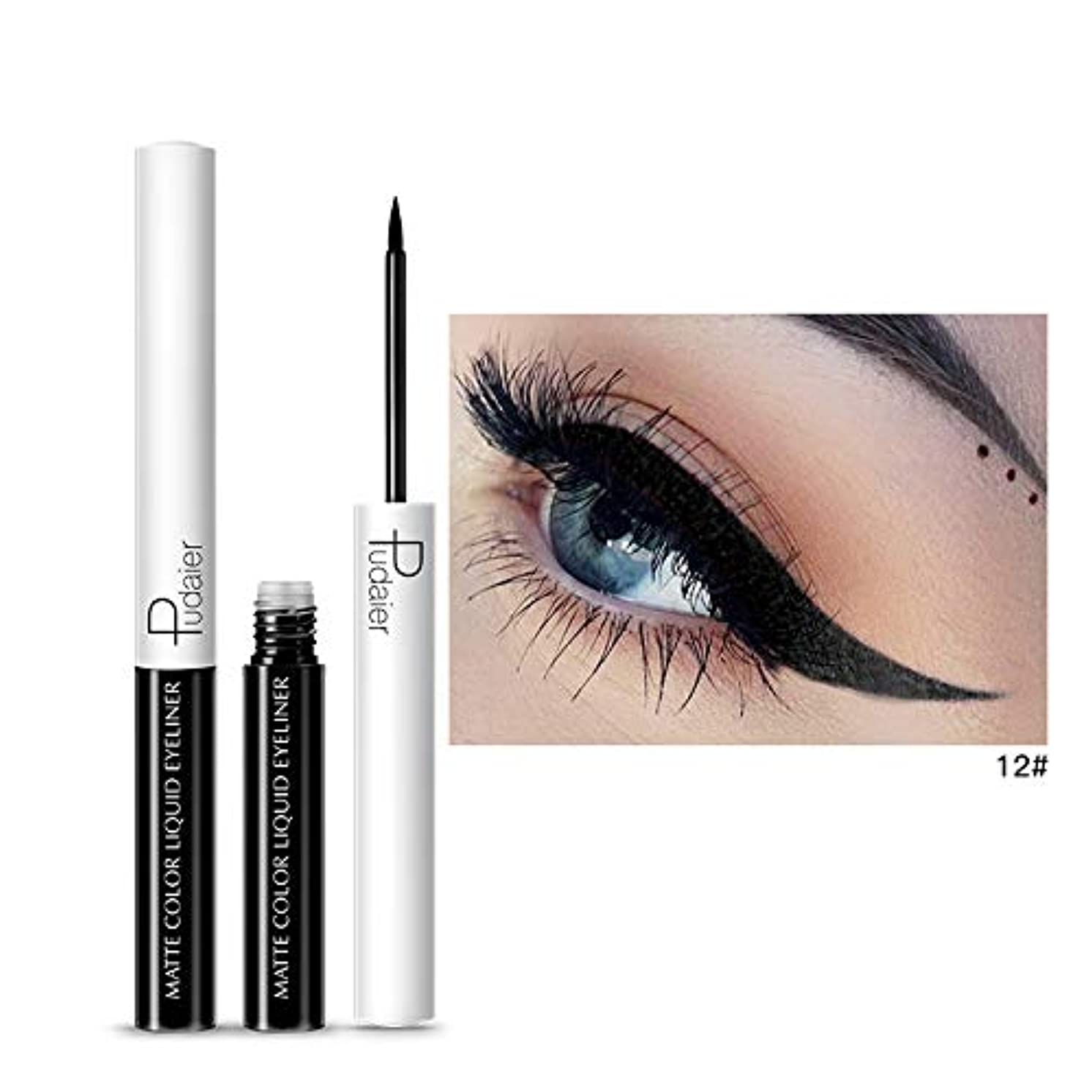 15 Colors Matte Colorful Liquid Eyeliner Waterproof Not Dizzy Long Lasting Quick Dry Brighten Smooth Eye Liner Makeup E3007 A12