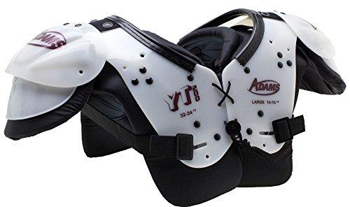 ADAMS USA Youth Yt200 Blocker Shoulder Pads White Maroon, Large