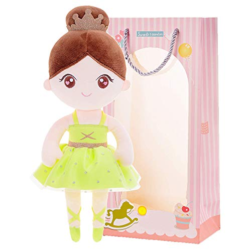 Gloveleya Baby Doll Girl Gifts Ballet Plush Toy Soft Dolls Green 13 Inches with Gift Box