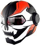 ZCY Casco de la Motocicleta Campo a través de la Motocicleta de la Cara Llena Casco Moto teléfono Abierto Casco, Casco Certificación Transformadores D.O.T,XL:(60~61cm)