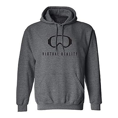 Virtual Reality Adult Hooded Sweatshirt in Dark Heather - X-Large