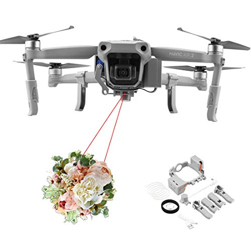 Haoun Release and Drop Device for DJI Mavic Air 2 for Drone Fishing, Bait Release, Payload Delivery, Ring Thrower, Search & Rescue, Fun Activities