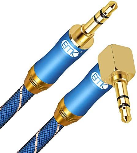 AUX Cable de 90 Drados Diseño 3.5mm Cable Jack Macho Macho Compatible...