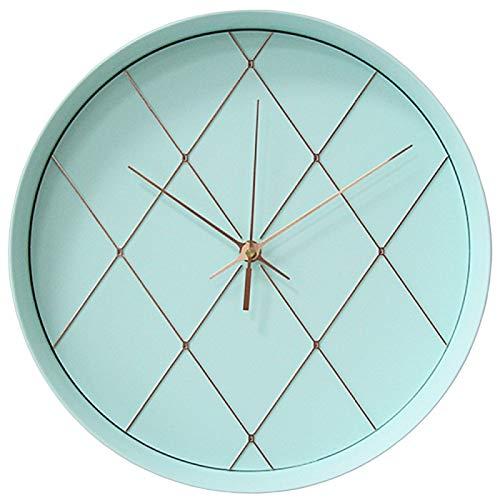 yaoyao Wandklok voor slaapkamer, 12 inch, creatieve minimalistische mintgroen, rond, modern design, studiok, decoratief kwarts voor keuken, woonkamer, school, geschenken