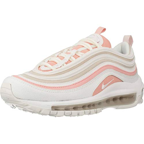 Nike W Air Max 97, Scarpe da Trail Running Donna, Multicolore (Summit White/Summit White/Bleached Coral 104), 36.5 EU