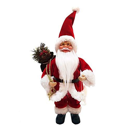 About1988 Weihnachtsmann, Hochwertiger Weihnachtsmann Deko Nikolaus Santa Clause Figur Groß Weihnachts Deko Holz,13 Zoll (FarbeA)