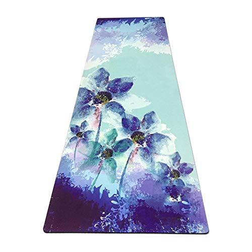 OPIUYS Esterilla de yoga, superficie de impresión de goma, antideslizante Deportes Fitness Travel Mat, Deportes al aire libre Fitness Yoga Mat