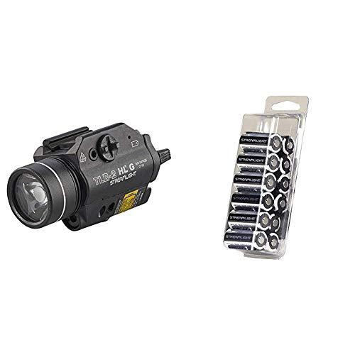 Streamlight High Lumen Rail Mounted Tactical Light & 85177 CR123A Lithium Batteries, 12-Pack