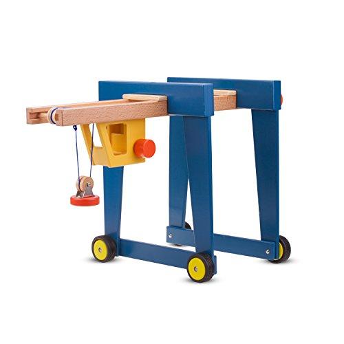 New Classic Toys Grue Porte-Containeur Jouet en Bois pour Enfant