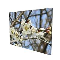 梅の花(Plum Blossom) アートパネル キャンバス 絵画 インテリア 壁飾り 壁掛け ソファの背景絵画 壁の絵 インテリア装飾(30cm×40cm,横型)