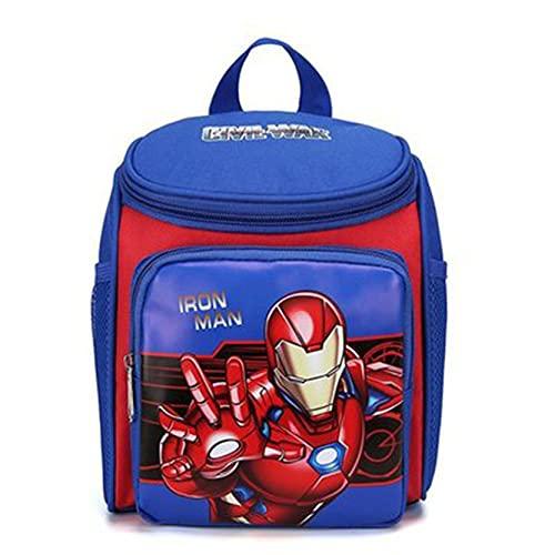 Xyh723 Niños Iron Man Mochila Superhéroe Mochila Escolar De Vacaciones Juventud Impresión 3D Bolsas De Almuerzo De Dibujos Animados Regalo De Cumpleaños,Blue-One Size