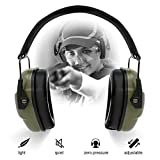 ucho Shooting Earmuff Safety Ear Protection - NRR 34dB Shooting Ear Protection Noise Reduction Headphones for Adults & Kids Ear Protection for Shooting Hearing