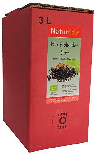 Naturgold® Bio- Holundersaft 3L Direktsaft, vollmundig im Geschmack