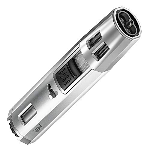 VVAY Gasfeuerzeug Sturmfeuerzeug Jetflamme Gas Nachfüllbar, Lang Stab Jet Feuerzeug für Kamin, Grill,Silber(Verkauft ohne Gas) …