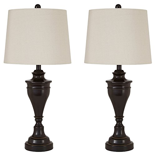 Signature Design by Ashley - Darlita Table Lamp - Traditional - Bronze (Pack of 2)
