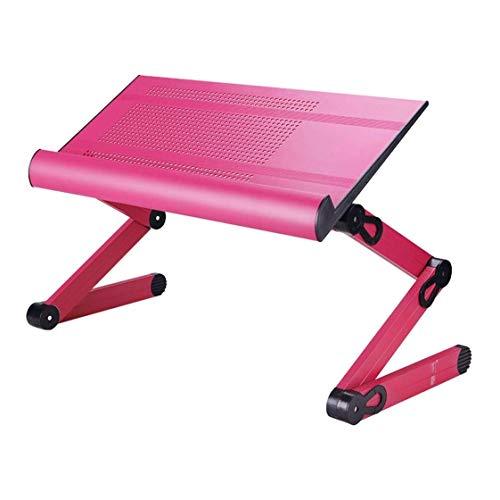 LYATW Laptop Tischständer Einstellbare Hebeplatte, Klapptisch Fahrstuhl Tragbarer Voll Ergonomisch, Aluminium Bettgestell, Table Top (Color...
