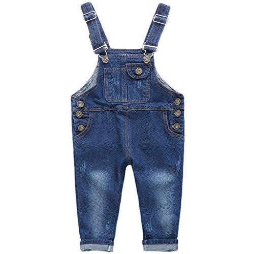 r.b.hickory Niños Bebé Pantalones de Peto Vaqueros Overalls Pantalón Largo Ajustable 3-4 Años